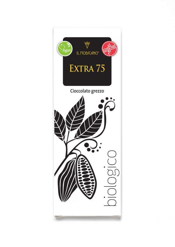 cioccolato grezzo fondente extra 75%